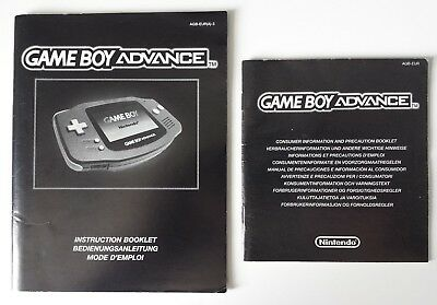 Gameboy Advance - Instruction & Consumer Manuals (Nintendo Gameboy Advance)