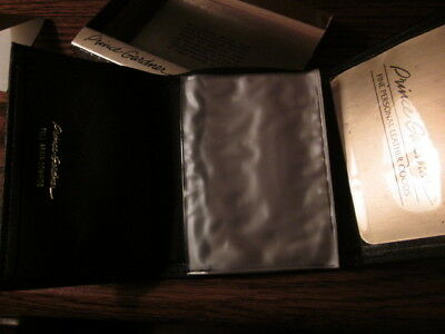Nos Prince Gardner Genuine Leather Trifold Wallet Black 054-0417Blk 1990's