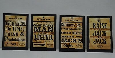 Jack Daniel's Raise A Jack To Jack Brand New Set Of 4 Collectible Cards
