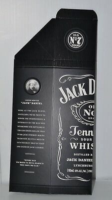 Jack Daniel's Old No.7 Brand New Collectible Black Cardboard 700ml Bottle Box
