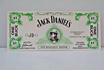 Jack Daniel's Collectible Brand New $1 One Buck Bank Note Recipes Card