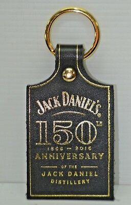 Jack Daniel's 150th Anniversary Of The Distillery Brand New Leather Key Ring