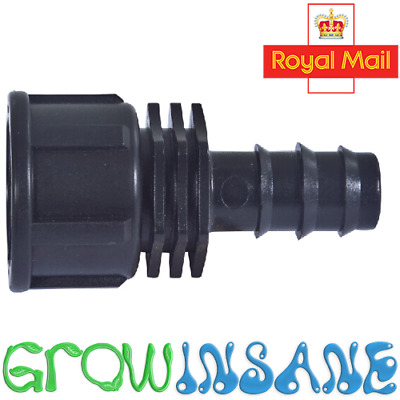 """Hozelock Compatible 13mm (ID) Barbed Irrigation Female Adapter- 3/4"""" BSP Thread"""