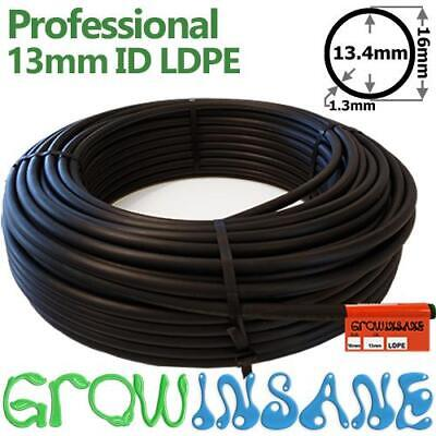13mm (1/2) inch Black LDPE Irrigation Pipe - Garden Supply Watering