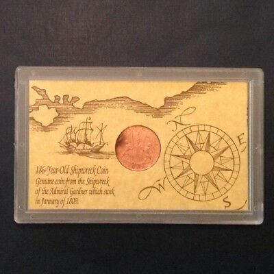 - 1808 East India Company  Ten X Cash Admiral Gardner Shipwreck Coin