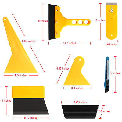 7in1 Squeegee Car Window Tinting Auto Film Install Wrapping Applicator Tools US