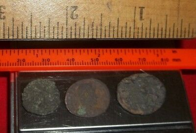 Ancient Roman AE Coins Follis 1/2 inch, 4+grams - Lot of 3x Ancient Rare coins