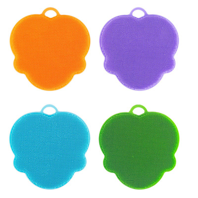 4 Pack Silicone Dish Sponges Scratch Free Scrubber Antibacterial US SHIP