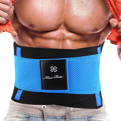 Mens Boned Waist Trainer Trimmer Slimming Belt Hot Sauna Sweat Belly Band Body