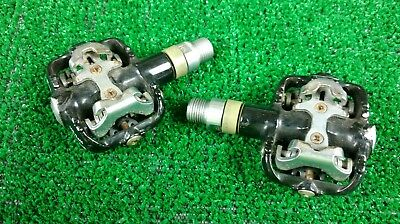 Wellgo Mountain Bike Clipless Pedals Shimano SPD Compatible EUC               I0
