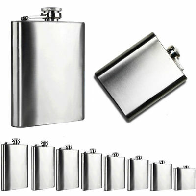 Whisky Bottle Stainless Steel Wine Hip Flask Travel Alcohol Whisky Pocket Flask