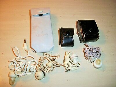 Vintage Lot of Transistor Radio Ear Bud Earphones Japan