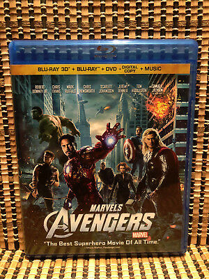 Marvel's The Avengers 3D (4-Disc Blu-ray/DVD, 2012)Iron Man/Thor/Hulk/Captain