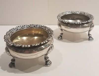 Antique Pair of Tiffany & Co Sterling Silver Open Salt Cellars,  circa 1875