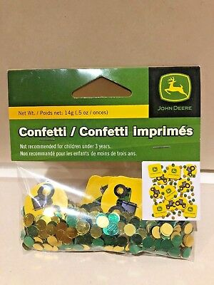 John Deere Licensed Party Confetti .5 Oz NEW