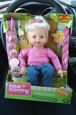 Fisher-Price Little Mommy Interactive Baby Knows Doll English Spanish Bilingual