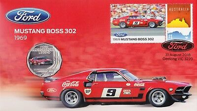 Australia - 2018 - Ford Mustang Boss 302 PNC - RAM 50c Coin Limited Ed 7500