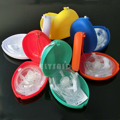 1 pcs Emergency CPR First AID shield one-way valve breathing mask