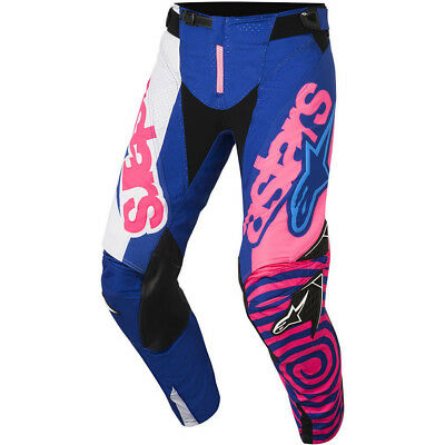 Alpinestars NEW Mx 2018 Techstar Venom Blue Pink Adults Motocross BMX Pants