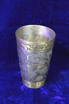 Antique Old Vintage Rare Brass Lassi Glass Home Decor Collectible PS1