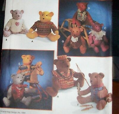 """20"""" Bear & Clothes, uncut sewing pattern, Simplicity 9053"""