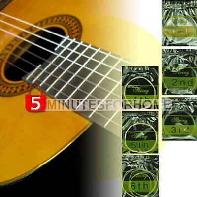 6PCS Durable Nylon String Guitar Strings Gauge Set for Classic Guitar