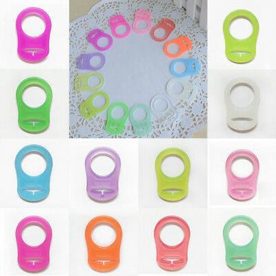 MAM Silicone Dummy Baby Clip Button 2 Pcs Adapter Pacifier Ring Holder Nipple