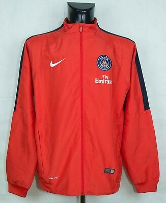 PSG Paris Saint-Germain FRANCE ZIP TRACK JACKET NIKE SIZE L (LABEL XL) VGC