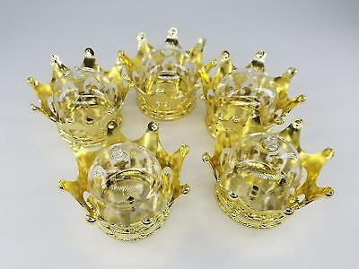 12 Baby Shower Favors Fillable Gold Crown Princess Party Decorations