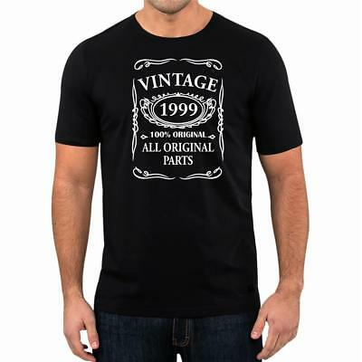 20th Birthday Present Gift Year 1999 All Original Parts T-Shirt Unisex Fun Tee