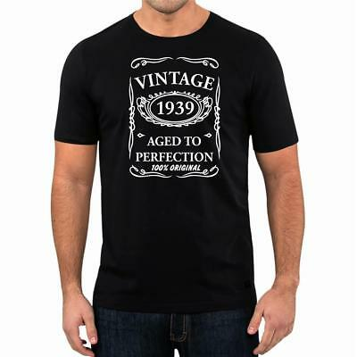 5a64c0a53 80th Birthday Present Gift Year 1939 Aged To Perfection Funny T-Shirt  Unisex Tee