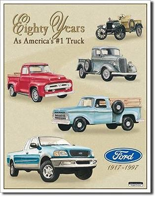 Ford Truck Tribute Eighty Years Classic Cars  Metal Tin Sign