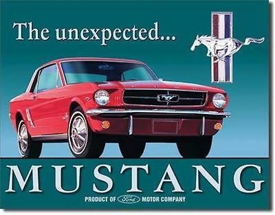Ford Mustang The Unexpected Classic Cars  Metal Tin Sign