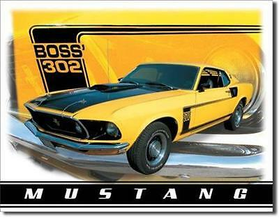 Ford Mustang Boss 302 Classic Cars  Metal Tin Sign
