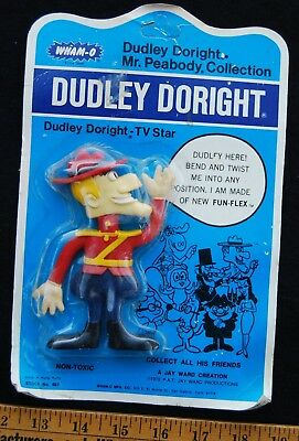 [ 1972 WHAM-O - DUDLEY DO-RIGHT Bendy Figure - Rocky and Bullwinkle - Jay Ward ]