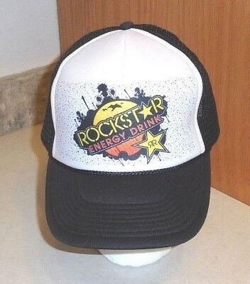 fbebce01ddc ... new zealand rockstar energy drink baseball cap hat one size mesh 8c213  ca671 ...