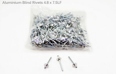 Large Flange Pop Rivet Blind Aluminium High Quality 250pcs 4.8mmx7.5mm Taiwan