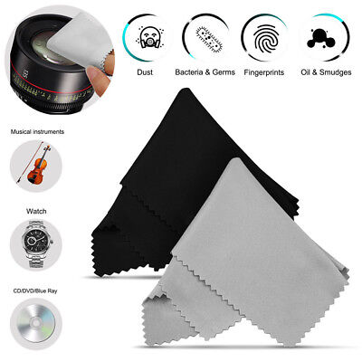 10-Pack Premium Microfiber Cleaning Wipe Cloths for Lens DSLR Glasses TV Screen