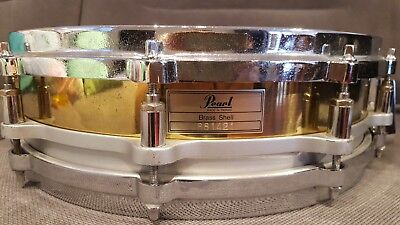 PEARL FREE FLOATING BRASS SHELL SNARE DRUM 14 x 3,5 PICCOLO DIECAST HOOPS TOP