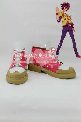 Custom-Made Anime GAME NO LIFE Sora Rose Gradient Cosplay Costume Boots Shoes MM