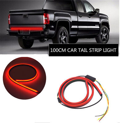 New Car Rear Dynamic Streamer Brake Light Red LED Warning Turn Signal Lamp Bar