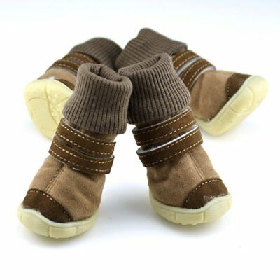Anti-slip Dog Shoes Small Large Mesh Boots Booties for Snow Rain Reflective 4pcs