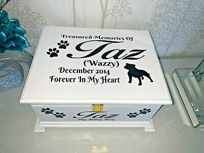 Ashes Casket for pets with Lock Personalised Urn memorial box large