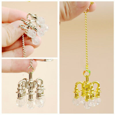 1:6 Scale Mini Cute Chandeliers Lamp Dollhouse Miniature Toy Doll Food Gift