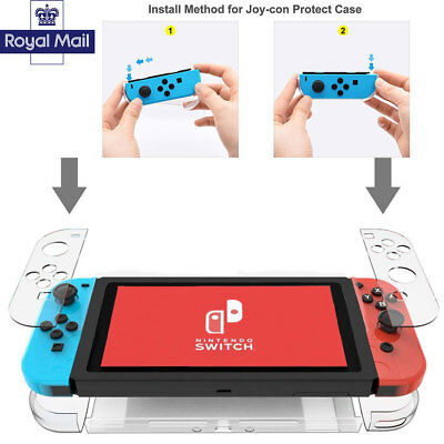 Case Cover For Nintendo Switch Console Game  Clear Shockproof Hard Protective