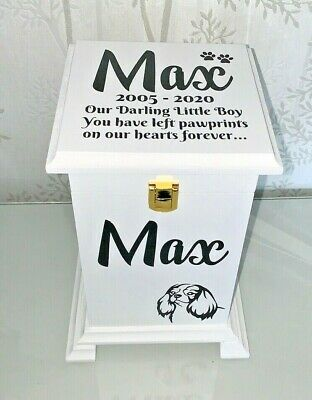 Pet Ashes Casket Memorial Urn Personalised Memory box SC22