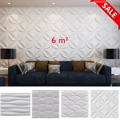 Natural Bamboo 3D Wall Panel White Decorative Wall Ceiling Tiles Wallpaper 6 m²