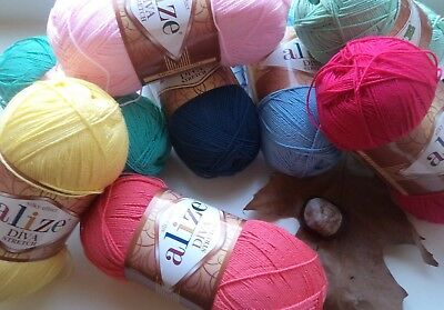 Stretch yarn Alize Diva Stretch rubber yarn elastic yarn swimsuit microfiber