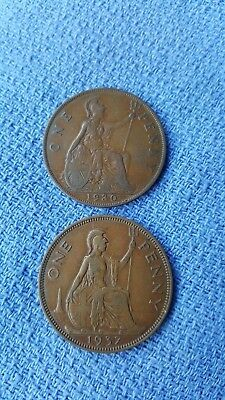 1930  1937  Penny  *english Coins* Make Up Your Aussie Set Cheaply Genuine Coins