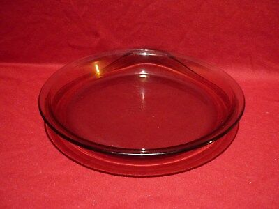 "Pyrex Oven Proof Pie Flan Dish 10"" Retro Vintage Kitchenware Smoke Brown"